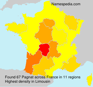 Surname Pagnat in France