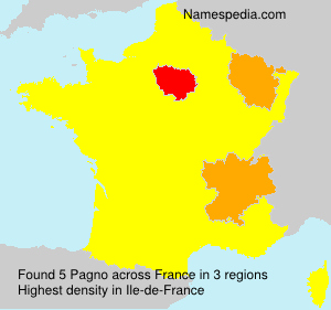 Surname Pagno in France