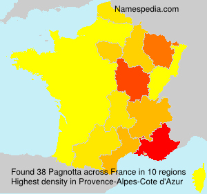 Surname Pagnotta in France