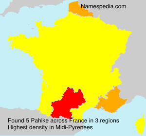 Surname Pahlke in France