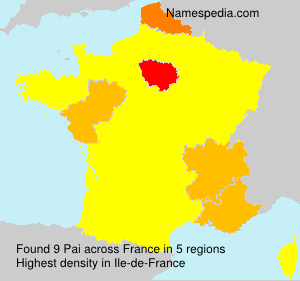 Surname Pai in France