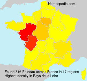 Surname Paineau in France