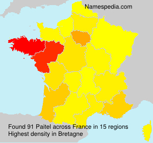 Surname Paitel in France