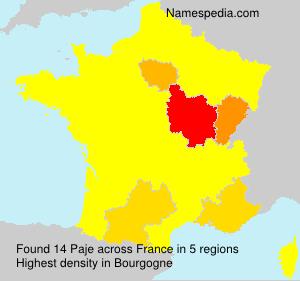 Familiennamen Paje - France