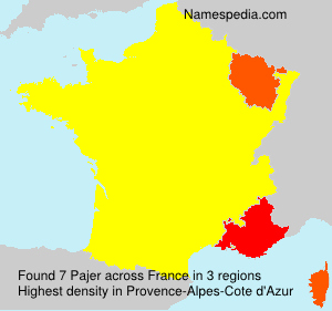 Surname Pajer in France