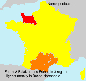Surname Palak in France