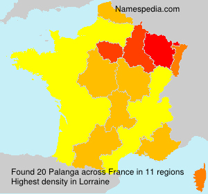 Surname Palanga in France