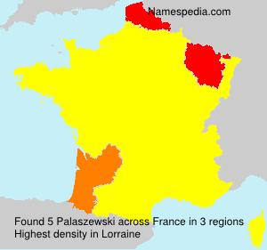 Surname Palaszewski in France