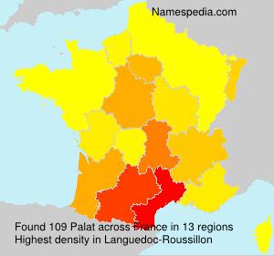 Familiennamen Palat - France