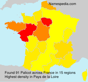 Surname Palicot in France