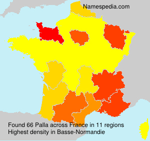 Surname Palla in France