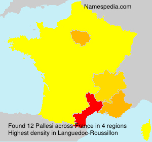 Surname Pallesi in France