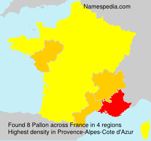 Surname Pallon in France