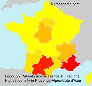 Surname Palmato in France