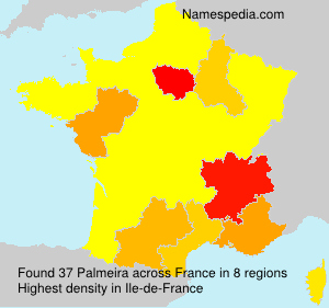Surname Palmeira in France