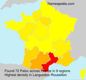 Surname Paloc in France
