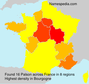 Surname Palson in France