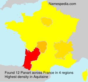 Surname Panart in France
