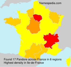 Familiennamen Pandore - France
