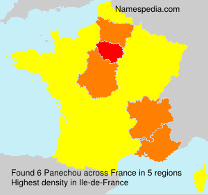 Surname Panechou in France