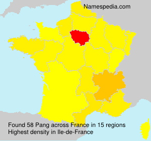 Surname Pang in France