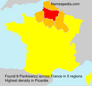 Surname Pankiewicz in France