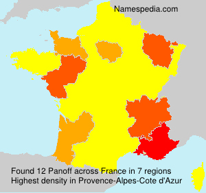 Surname Panoff in France