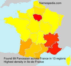 Surname Panossian in France