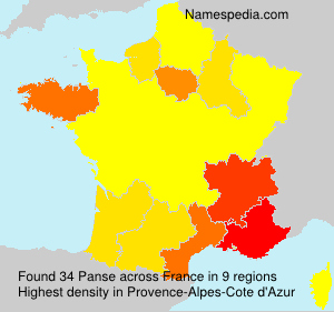 Surname Panse in France