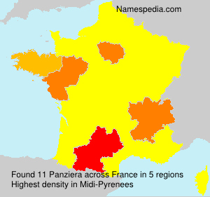 Surname Panziera in France