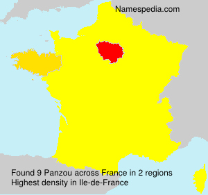 Surname Panzou in France