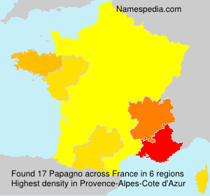 Surname Papagno in France