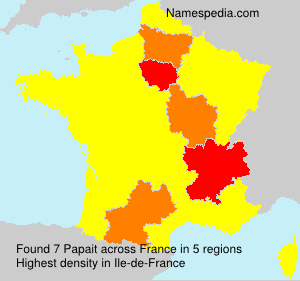 Surname Papait in France