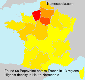Surname Papavoine in France