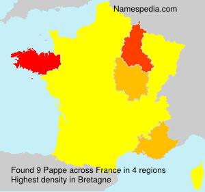 Familiennamen Pappe - France