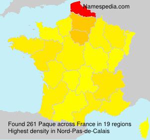 Familiennamen Paque - France