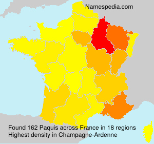 Surname Paquis in France