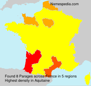 Surname Parages in France
