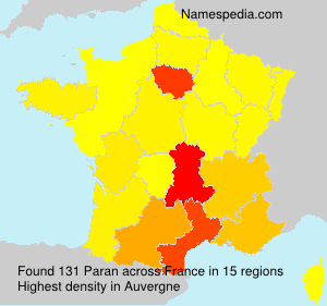 Surname Paran in France