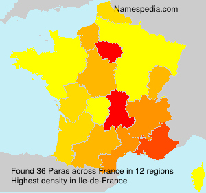 Surname Paras in France