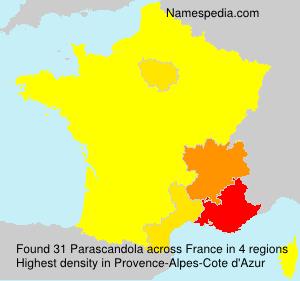Surname Parascandola in France