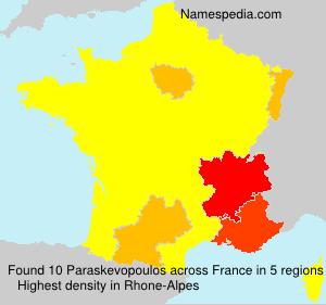 Surname Paraskevopoulos in France