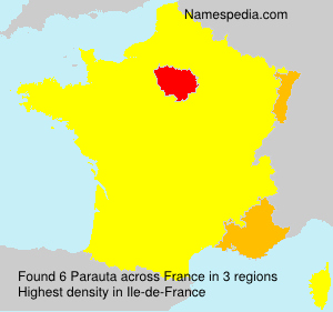 Surname Parauta in France