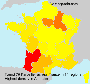 Surname Parcellier in France