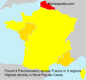 Surname Parchanowicz in France