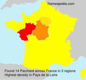 Surname Parchard in France