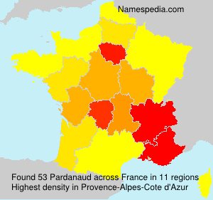 Surname Pardanaud in France