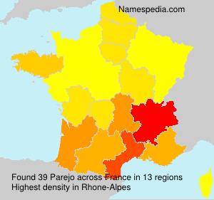 Surname Parejo in France