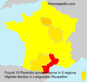 Surname Parentini in France