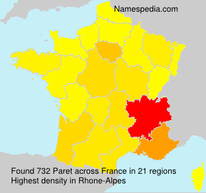 Surname Paret in France